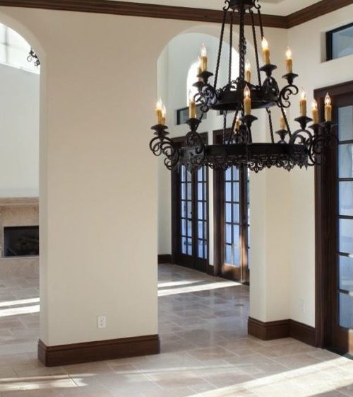 interior luxury home faux wood beams