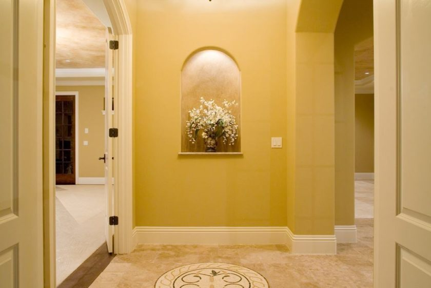 interior luxury home niche in vestibule