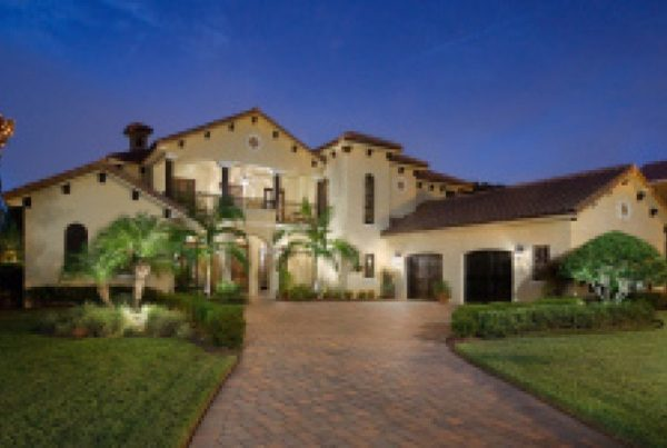 exterior luxury home Modern Homes Tuscan Curb Appeal