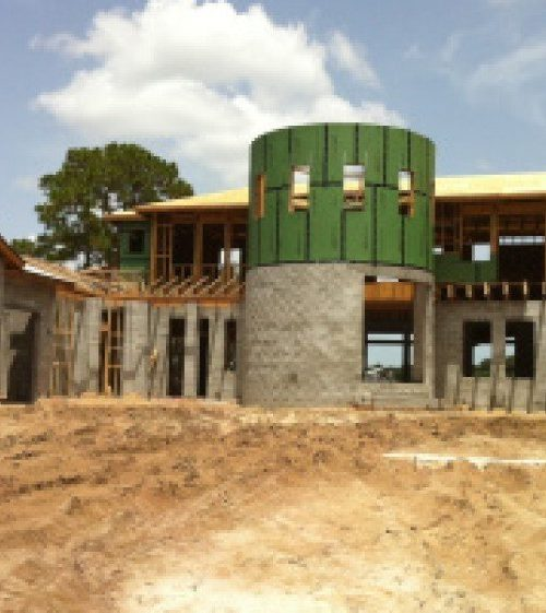 exterior luxury home construction