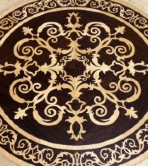 interior luxury home floor medallion