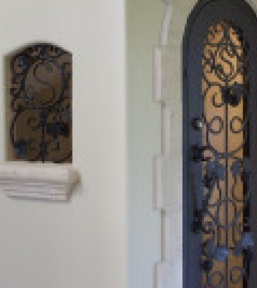 interior luxury home iron door