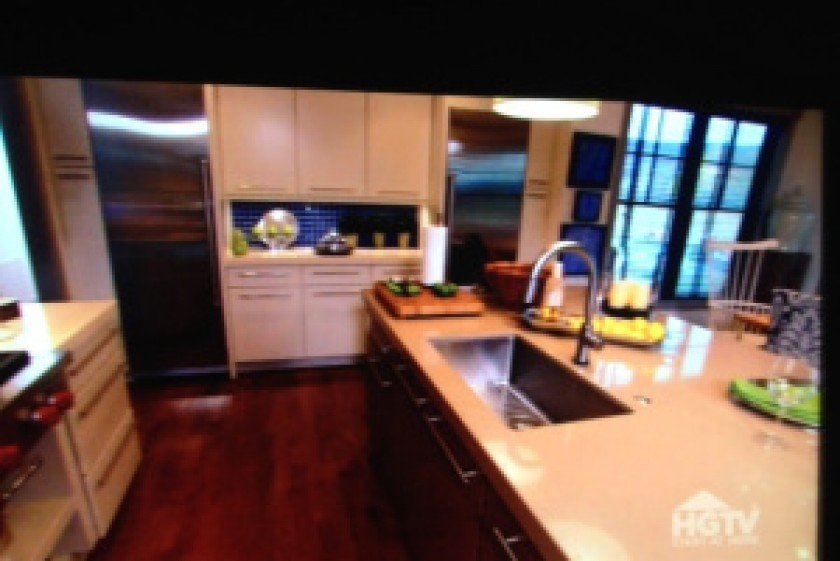 interior luxury home kitchen island oven HGTV