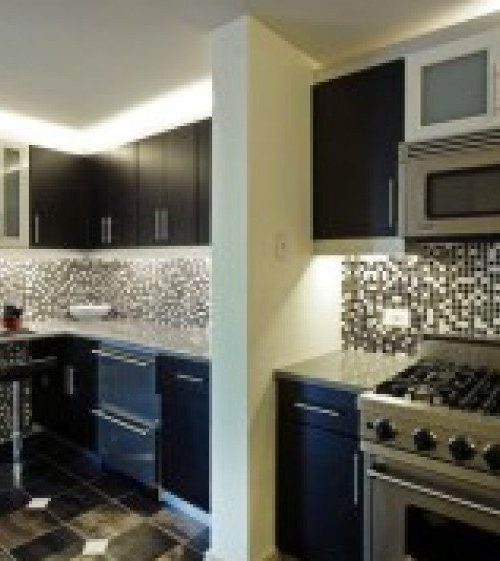 interior luxury home kitchen checker board