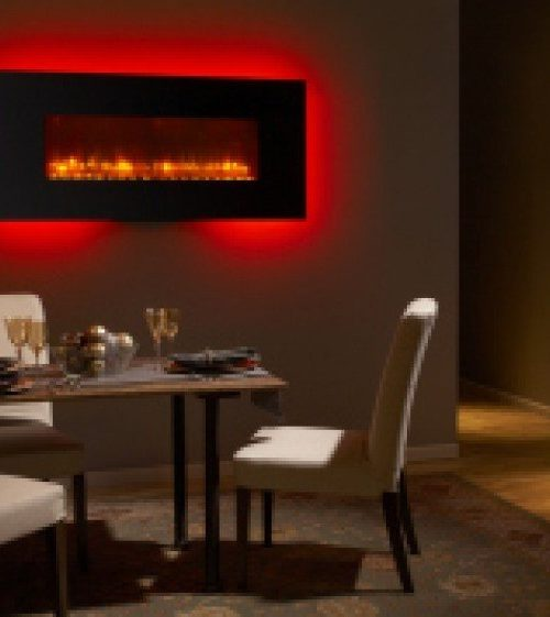 interior luxury home electric fireplace