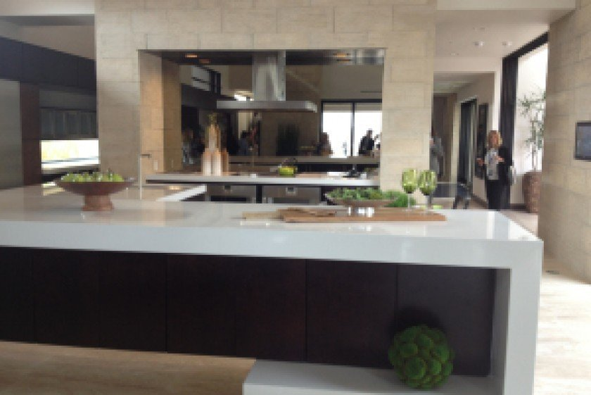 Elegant The Kitchen Island Curves And Wraps In 2013