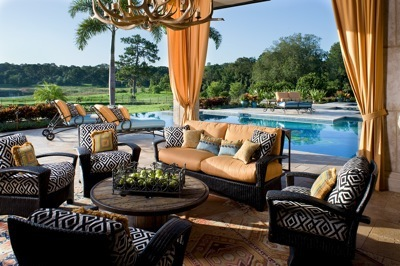 OutDoor Pool Living by Ann Rue Interiors