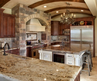 granite countertop in home designed and built by Orlando Custom Home Builder Jorge Ulibarri