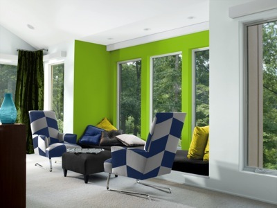 High Voltage Palette in Electric Lime(SW 6921) and Extra White (SW 7006)