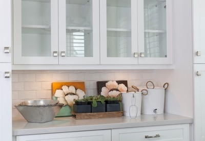 White Subway Tile in the kitchen of The New Southern Home, photo courtesy of NWC Construction
