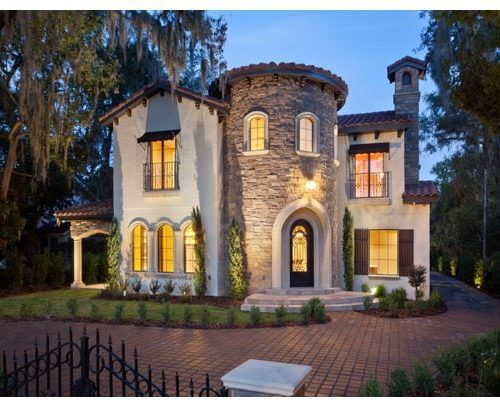 exterior luxury home tuscan