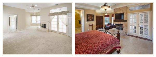 The before and after pictures of the master bedroom in a 1989 home remodeled by Orlando Custom Home Builder Jorge Ulibarri www.imyourbuilder.com