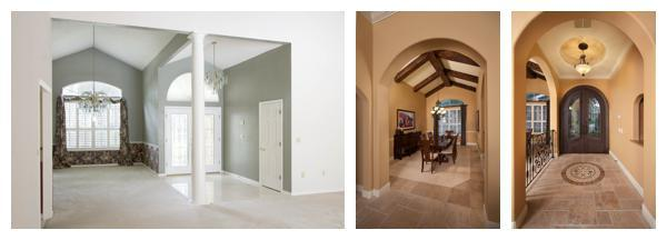 The before and after pictures of the remodel of a 1989 outdated home into a Tuscan custom residence by Orlando Custom Builder Jorge Ulibarri. www.imyourbuilder.com