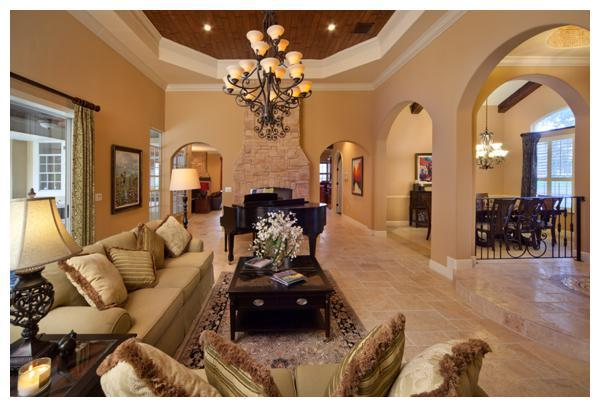 The updated Tuscan formal living room in a 1989 home remodeled by Orlando Custom Home Builder Jorge Ulibarri. www.imyourbuilder.com