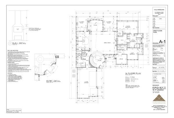 Floor plan of the Mission-Mod Blog House under construction by Orlando Custom Home Builder Jorge Ulibarri. Master the learning curve of custom construction by following this step-by-step documentation of the home's construction. For information, go to www.Imyourbuilder.com