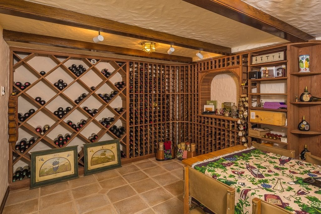 Diamond storage racks and individual storage racks in a temperature controlled wine room. For more design tips and advice on building a custom home, check out the blog by Orlando Custom Home Builder Jorge Ulibarri at www.imyourbuilder.com