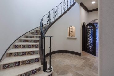 interior luxury home stairway tiles