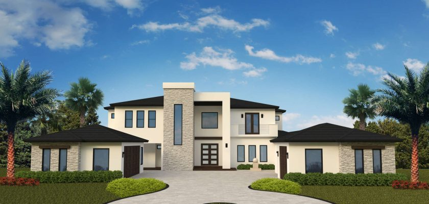 Florida Contemporary Custom Home by Orlando Custom Home Builder