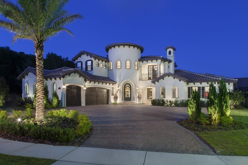 Orlando Custom Home is a blend of Spanish Mission Architecture and Contemporary design elements by Orlando Custom Home Builder Jorge Ulibarri of Cornerstone Custom Construction