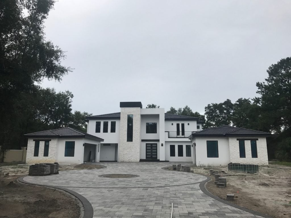 Florida Modern styled home designed and under construction by Orlando Custom Home Builder Jorge Ulibarri in Lake Mary. www.imyourbuilder.com