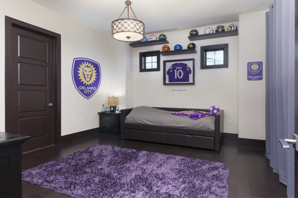 interior luxury home orlando city purple bedroom