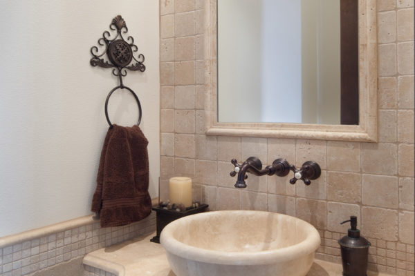 interior luxury home rice lake powder room