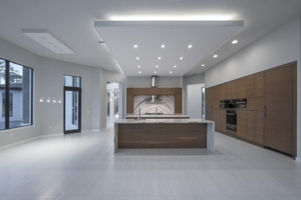 interior luxury home kitchen island ,oven,