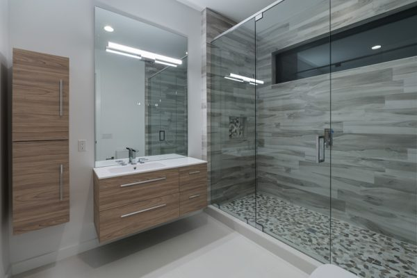 interior luxury home bathroom shower
