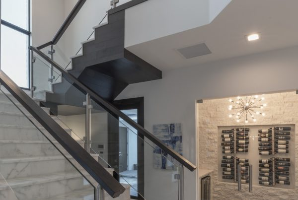 interior luxury home staircase