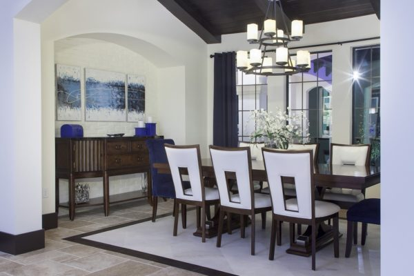 interior luxury home dining room
