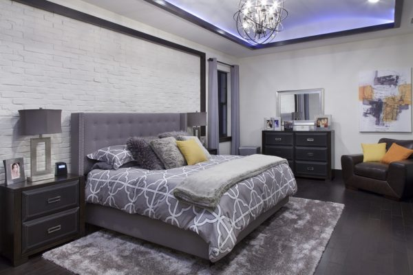 interior luxury home master bedroom