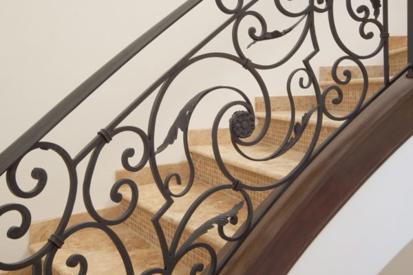 interior luxury home stair railing