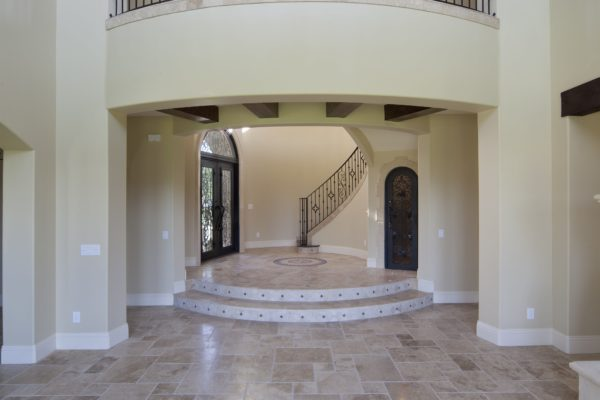 interior luxury home hall stairway