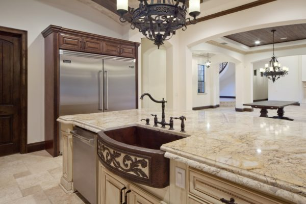 interior luxury home kitchen island sink