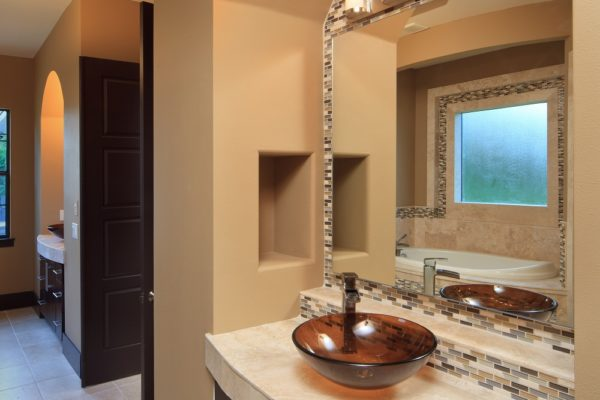 interior luxury home bathroom sink