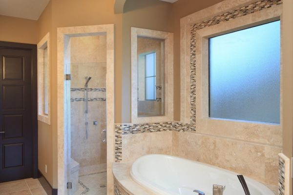 modern mediterranean bathroom upstairs