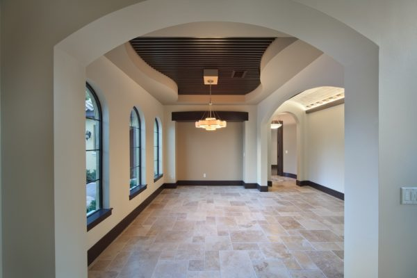 mod mediterranean custom home with transitional interiors