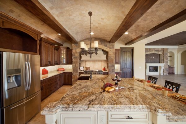 interior luxury home kitchen island