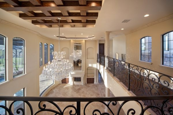 interior luxury home more custom hand-crafted railing