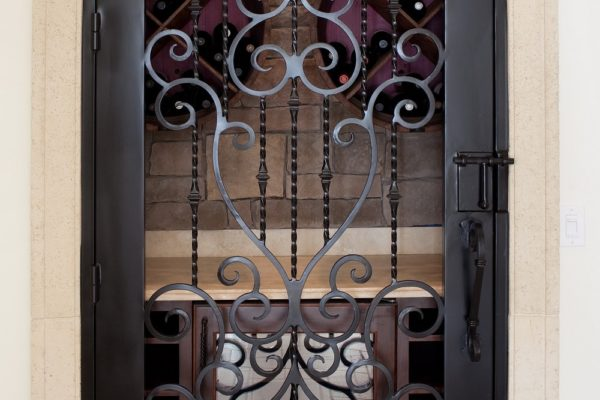 interior luxury home more custom hand-crafted iron doors
