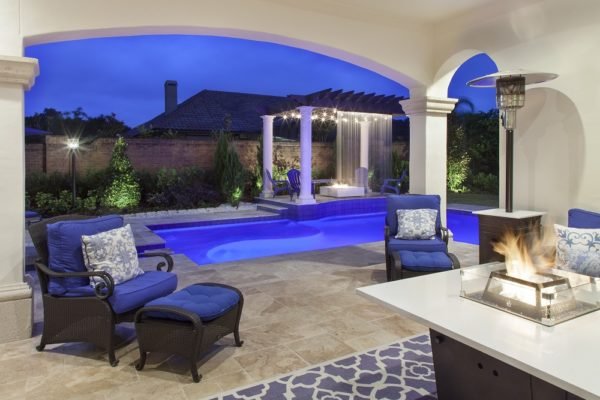 exterior luxury home Modern Homes pool patio