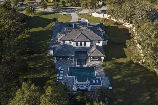 exterior luxury home Modern Home Aerial