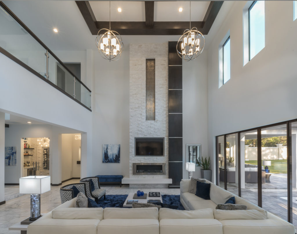 contemporary family room, modern family room, contemporary-styled interiors