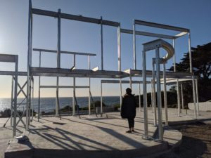 Steel Frames With Woman